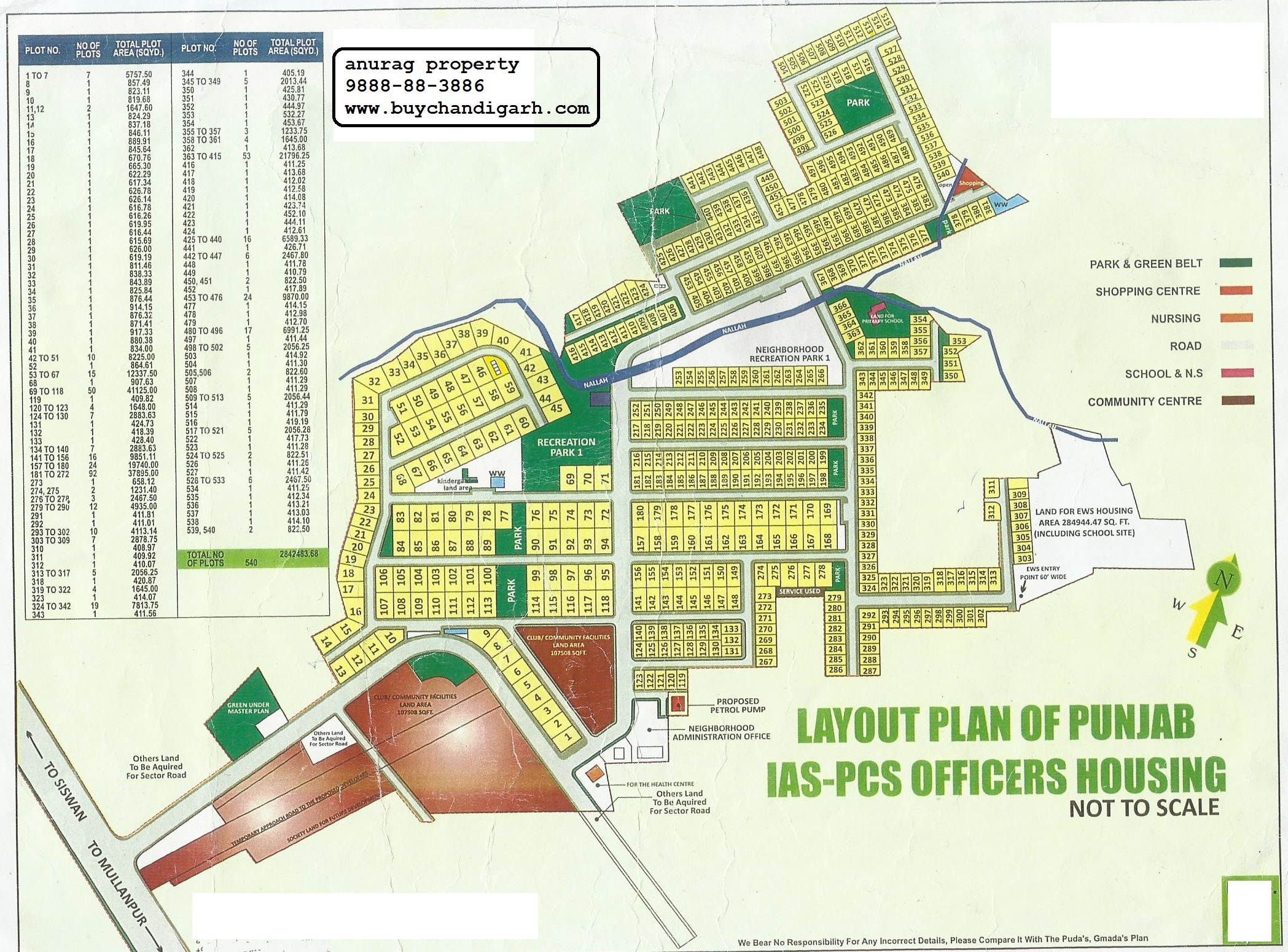 Layout Plan of Punjab IAS PCS Officers Cooperative House Building Society Ltd, Mohali