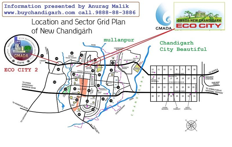 gmada eco city new chandigarh mullanpur location map