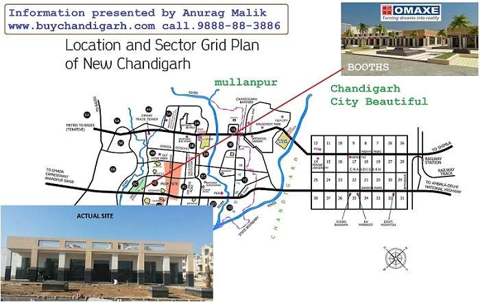 omaxe booths in phase 1new chandigarh mullanpur location map