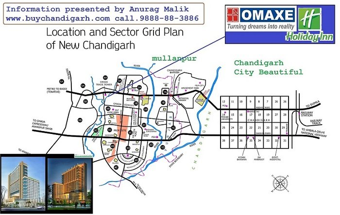 omaxe holiday inn office spaces new chandigarh mullanpur location map